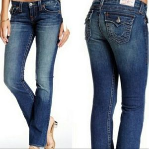 True Religion Becky Bootcut Flap Midrise Stretch